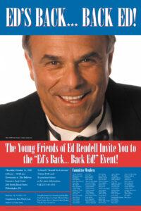 Ed Rendell Gubernatorial Campaign Kickoff Poster