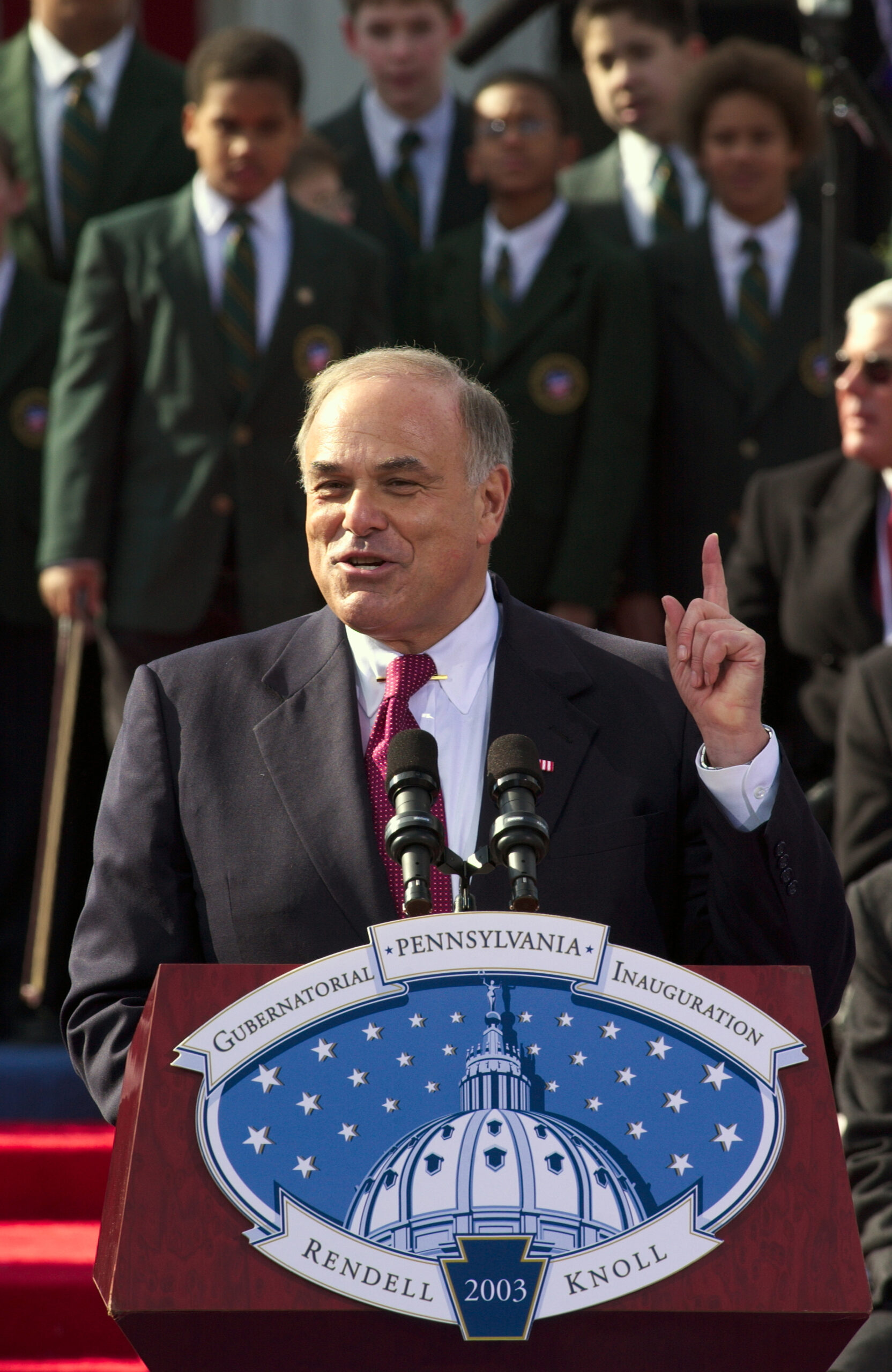 Governor Ed Rendell at podium