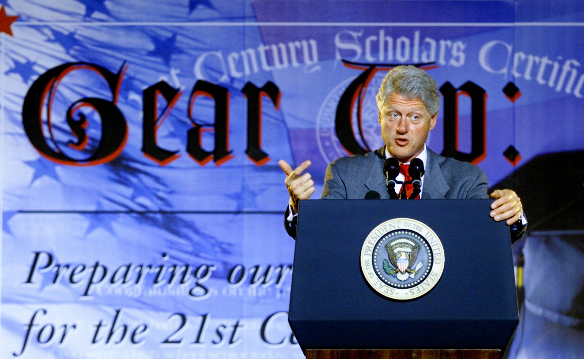 President Bill Clinton promotes the Gear Up Program