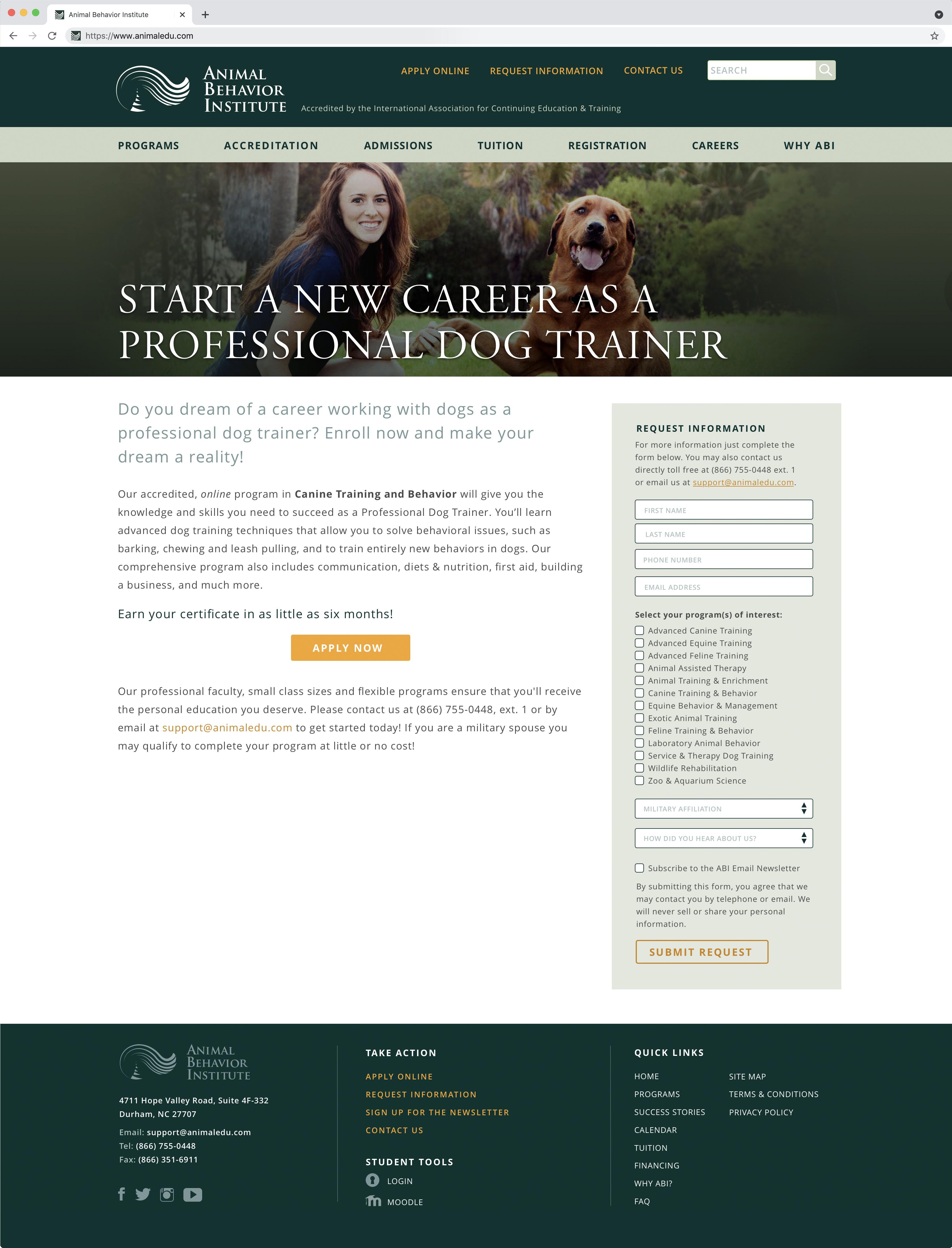 Animal Behavior Institute Professional Dog Trainer