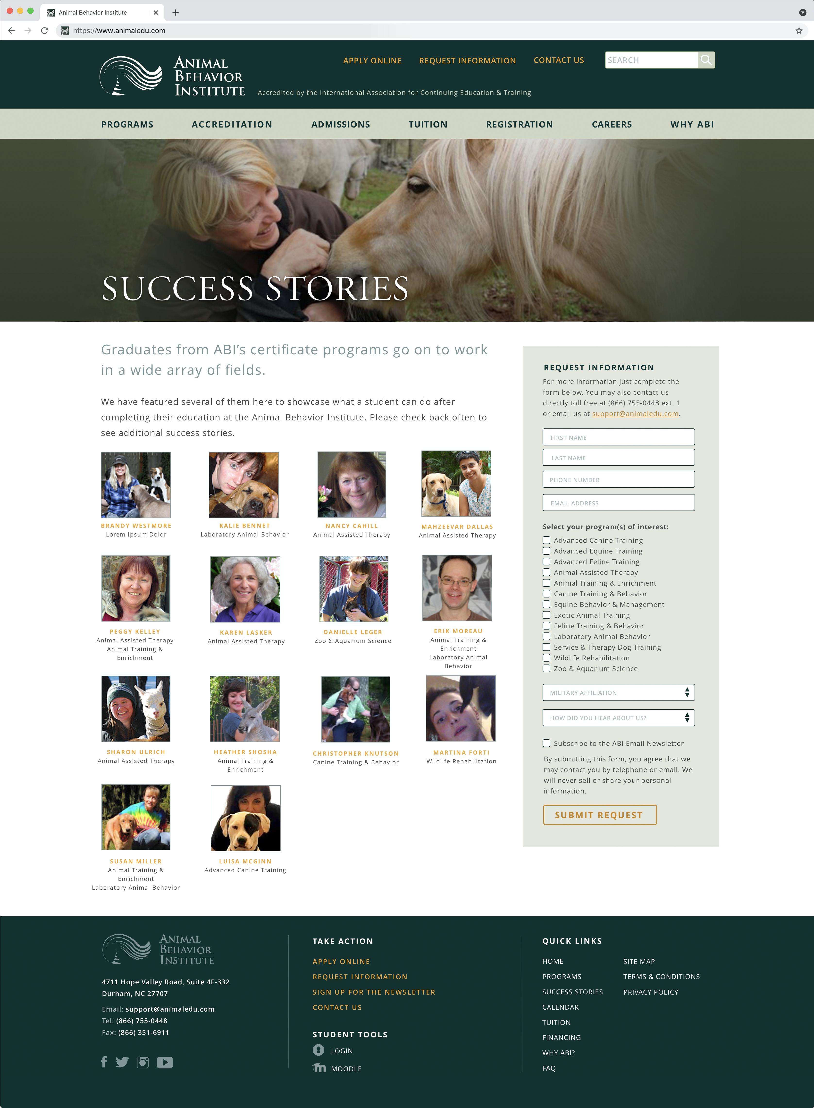 Animal Behavior Institute Success Stories