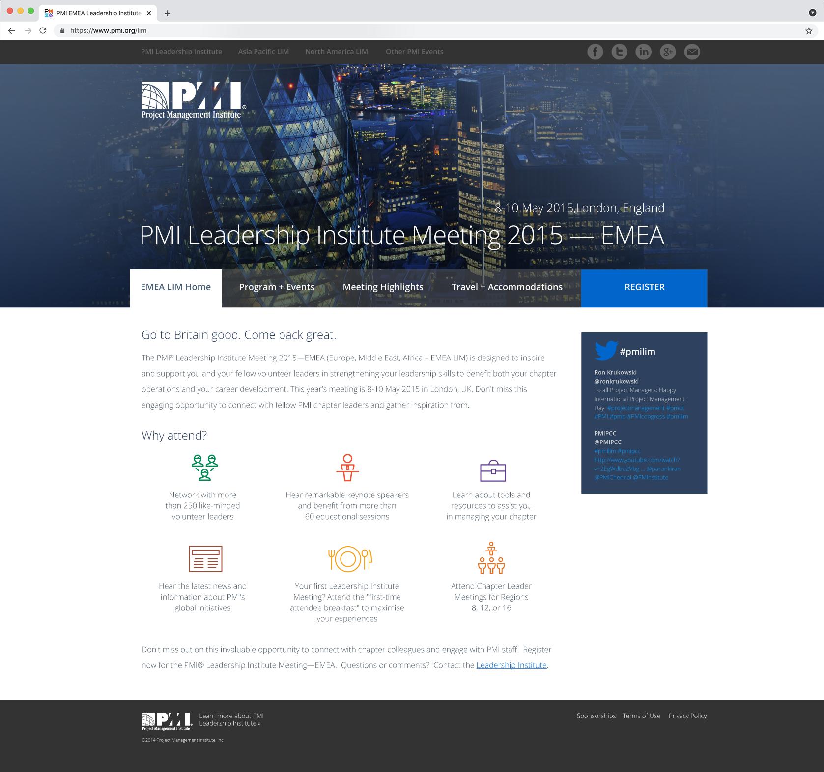 PMI EMEA LIM Microsite Homepage