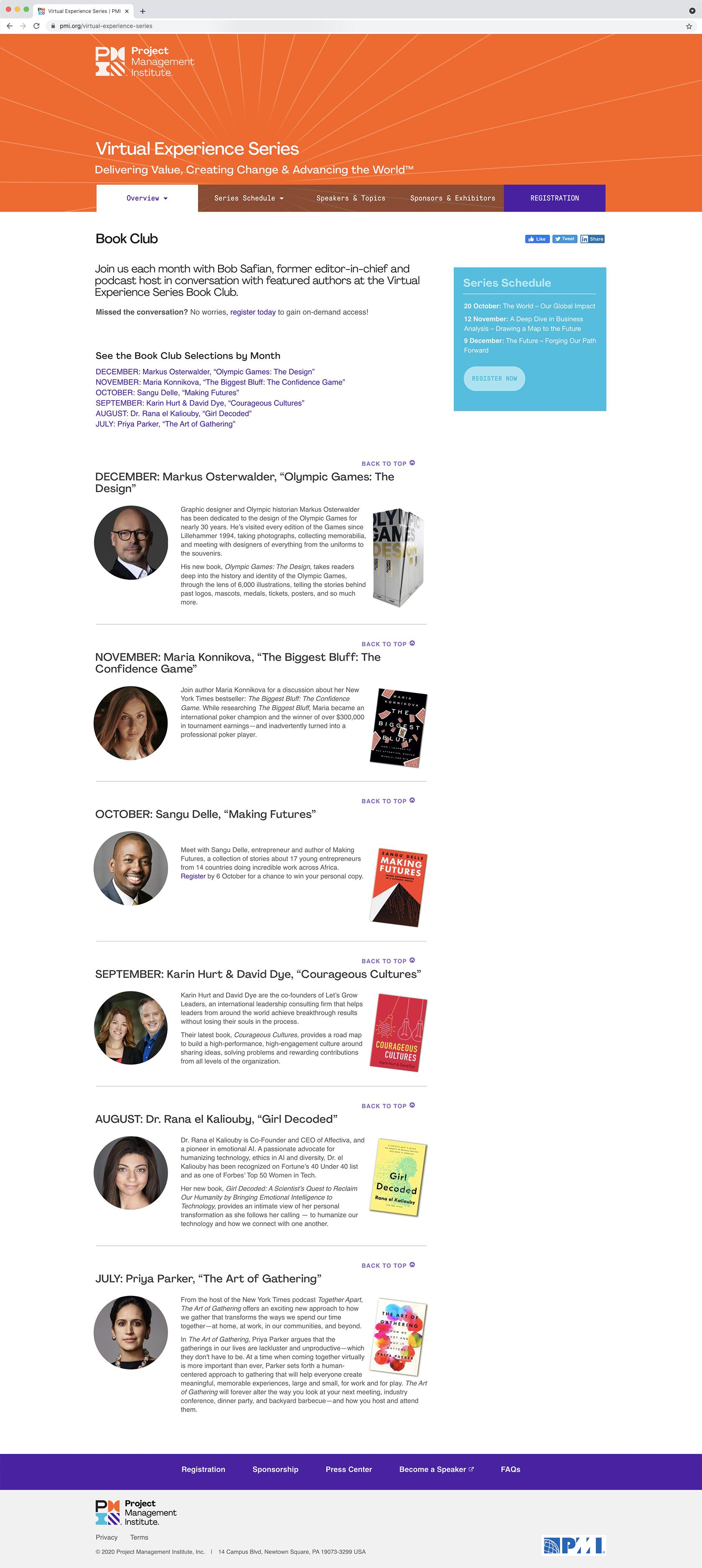 PMI Virtual Experience Series Book Club