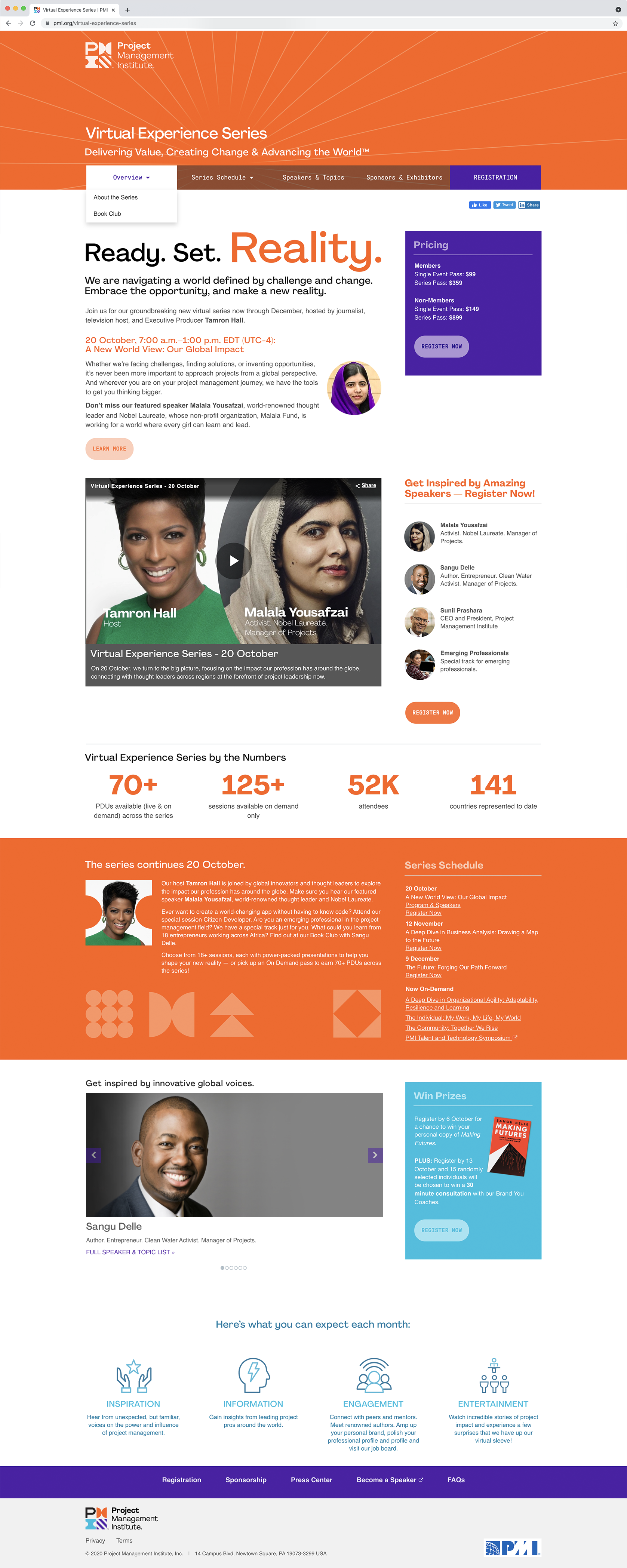 PMI Virtual Experience Series Homepage